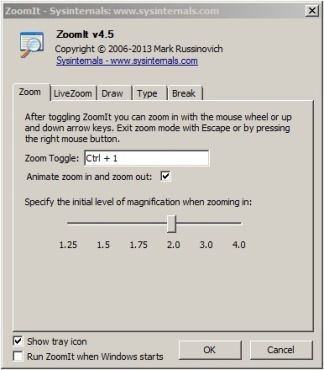 ZoomIt v4.42 - allows you to zoom your screen for online presentations so people can see what the heck you're doing!