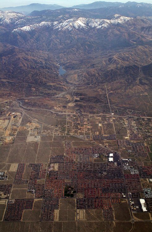 Palmdale, California, where my mom went to high school - I lived there for 3 years during my 4th grade year, when Mom went back to her parents to get away from Kentucky, until Dad got a job in Oregon