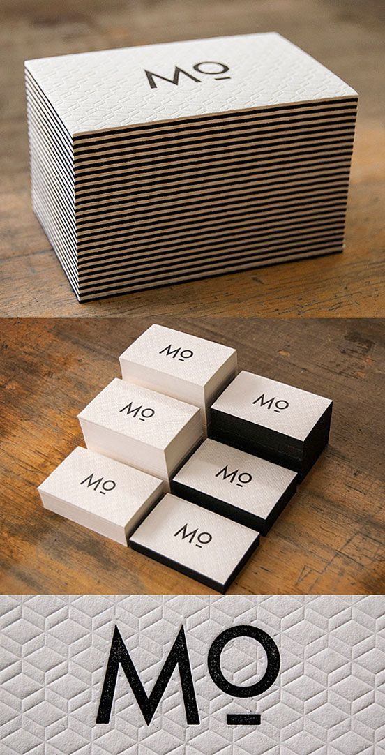 Unique Letterpress Business Card: