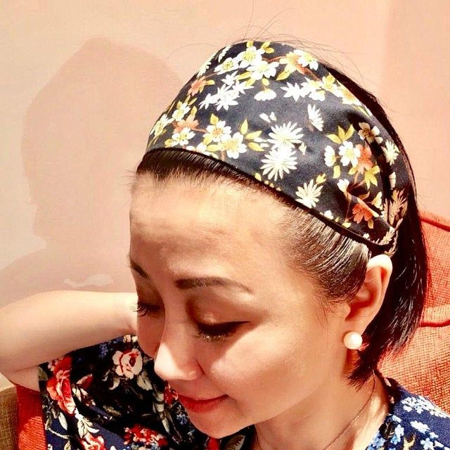 top knot Yellow gingham bow headwrap