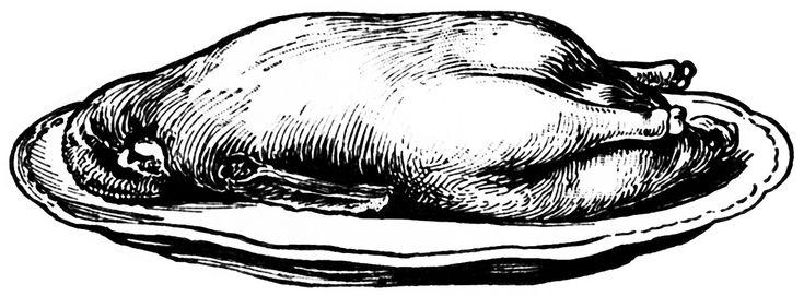 Old Design Shop ~ free digital image: cooked goose on a platter