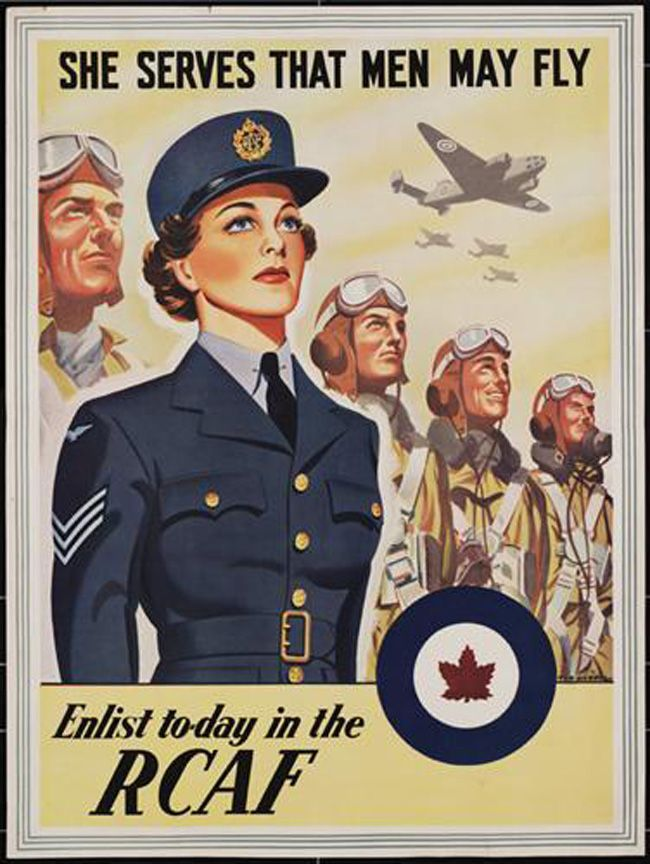 WW2 Air Force Uniforms for Canadian Women. Blog post