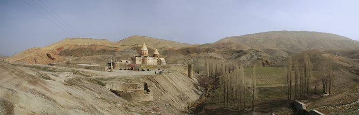 Iran | World Heritage Site: Armenian Monastic Ensembles of Iran (2008). Panorama of the site of Saint Thaddeus Monastery. image: Wikimedia Commons. view on Fb https://www.facebook.com/SinbadsIranPocketGuide #MyIran #Iran #Persia  #TravelToIran #travel #worldheritagesite