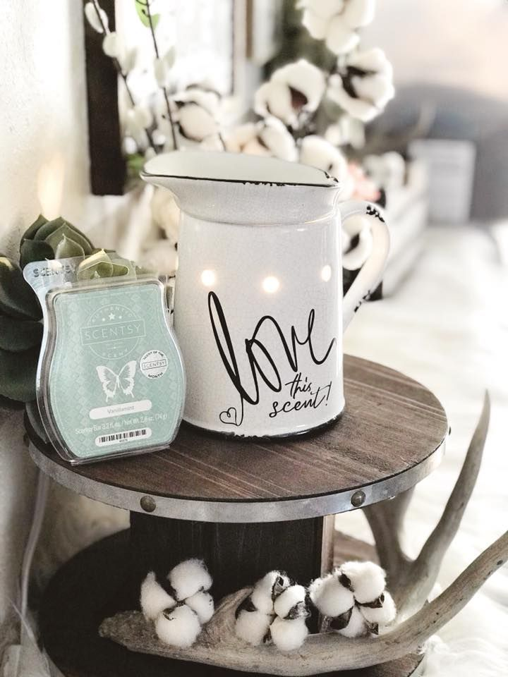 Scentsy's Prairie Pitcher Warmer with a cricut vinyl on it ...
