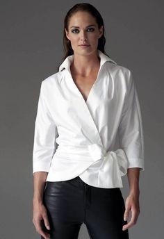 white wrap blouse - Buscar con Google