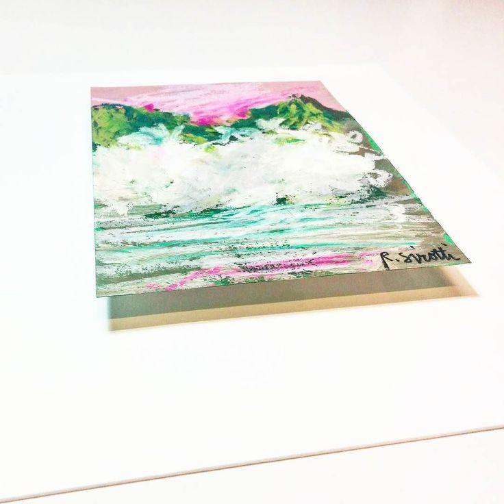 Float mount per opere d'arte che fluttuano nell'aria... #incorniciare #float #montaggio #sospeso #vuoto #ombre #arte  #tecniche #corniciaio #artigianato #design #floatmount #art #shadow #pastello #paesaggio #liguria