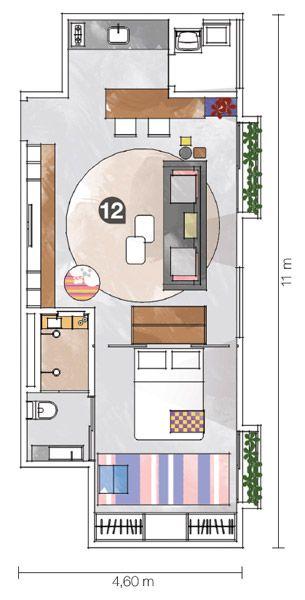 23 soluções para apartamentos pequenos | home / layout / floorplan / plantas casa | Pinterest | House, Small apartments and House plans