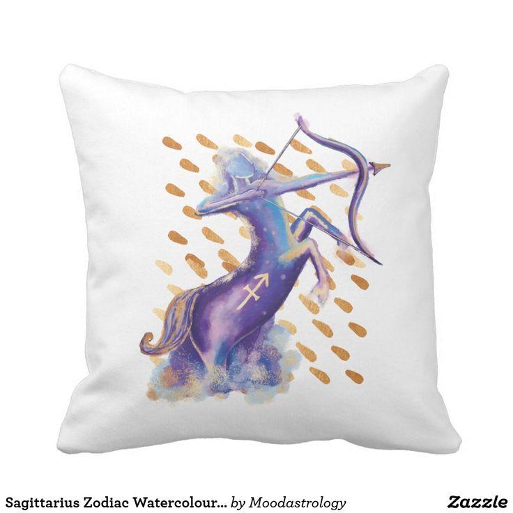 Sagittarius Zodiac Watercolour Artistry Pillow