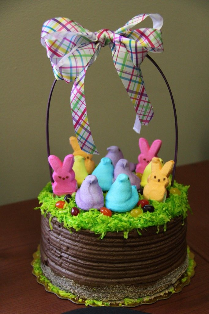 Easter basket ideas, Peep Easter Basket Cake, DIY Easter ...
