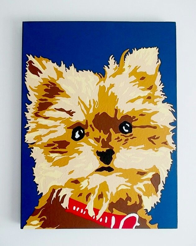 DOG PAINTS FROM YOUR OWN PET IMAGE !?