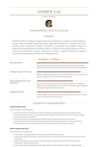 key account manager Ejemplo de currículum
