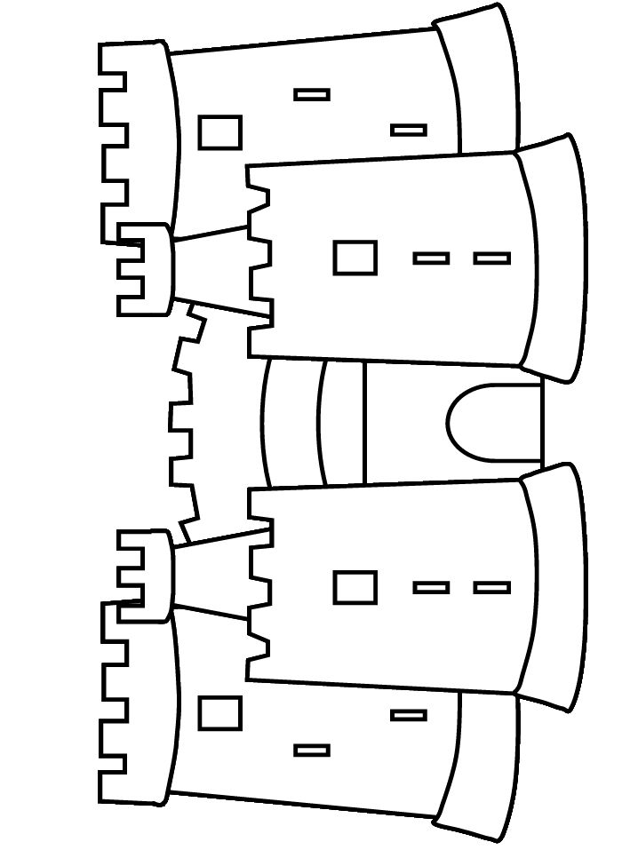 Print coloring page and book, Castle Fantasy Coloring
