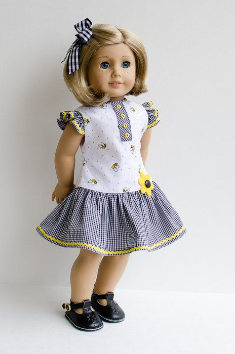 Dress and Hair Ribbon for Kit Ruthie Molly by AnnasGirls on Etsy