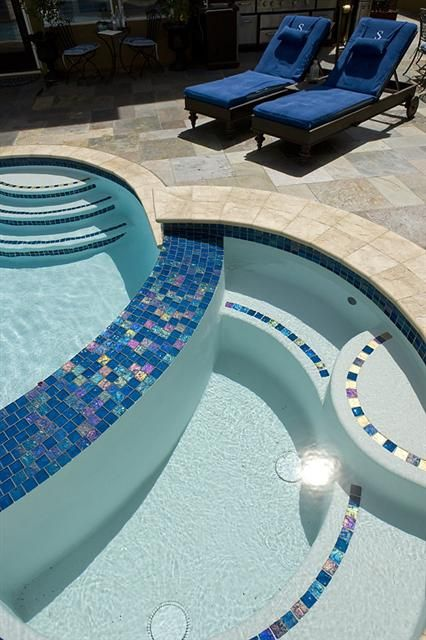 - Lightstreams Glass Pool Tile   Peacock Blue A Northern CA Our perfect spa!