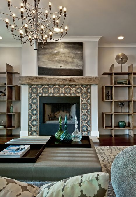 Fireplace & suround -Julia Buckingham, Chicago | Refined Haystack