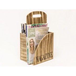 Houten magazine houder € 19,95 http://www.zusenzowonen.nl/woondecoratie/Opbergers/gifts-houten-magazine-houder