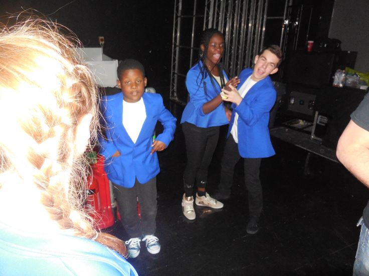 Having fun backstage. http://youngandtalented.co.uk/testimonials/the-real-deal-comment-on-their-experience/