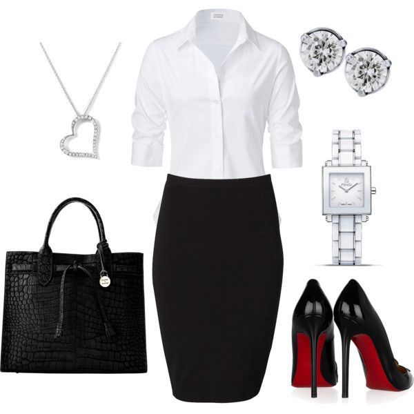 For the lawyer in me (minus that heart necklace) - created by #andylyssascarlett28 on polyvore.com