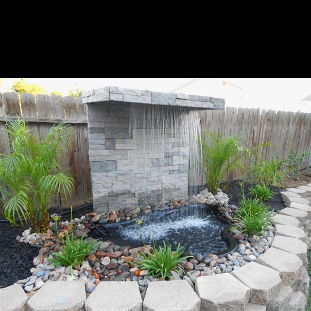 Diy waterfall garden pinterest diy waterfall water for Waterfall water feature