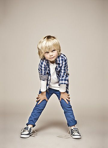 Cute blonde boy little kids style-maybe I'll let Cruz's mop stay....