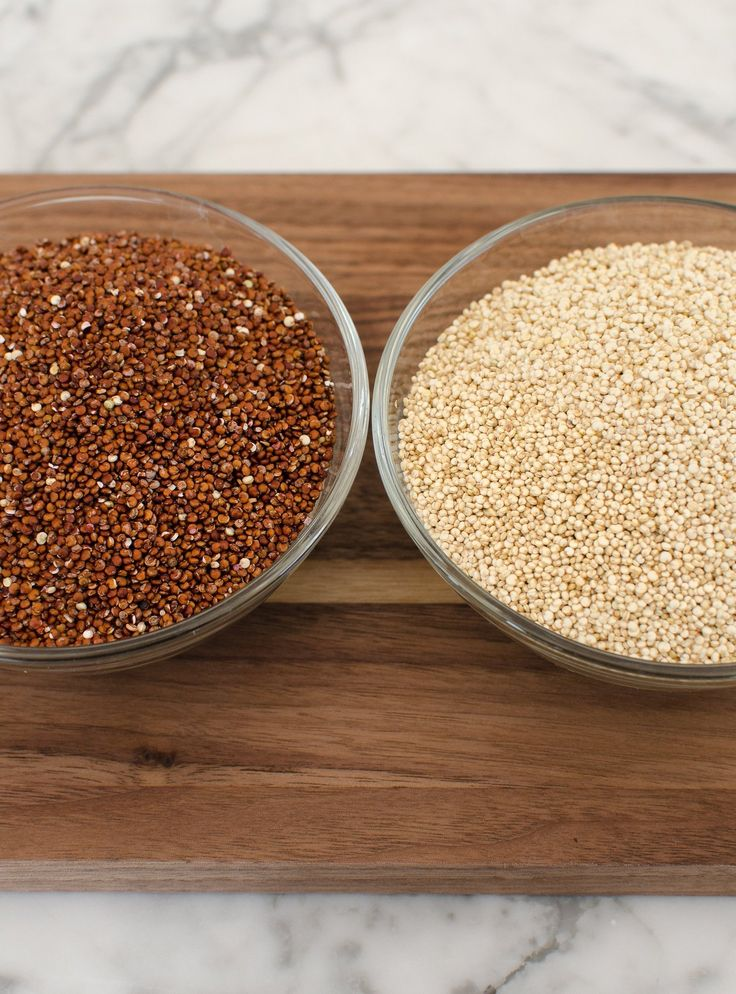 I cook quinoa pretty frequently, using it in grain bowls or in salads. I've been increasingly enamored of red quinoa, which looks really gorgeous in salads, and which seems to hold its shape just a little bit better than the more commonly-found white quinoa. I became curious: was there any real difference between these two colors, or their third exotic sibling, black quinoa? I decided to ask a couple experts.