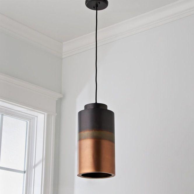 Ombre Copper Pendant Large Pendant Lighting Dining Room Long Pendant Lights Kitchen Island Pendants Modern