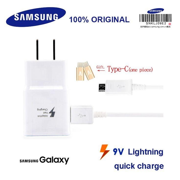Samsung Micro USB Cable 9V Smart Quick Charger EP-TA20CBC Original for GALAXY S7 S7Edge S6 S6Edge S6Edge+ #Affiliate