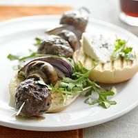 Blue Cheese Burger Kabobs - for those of us who like blue cheese - this rocks!