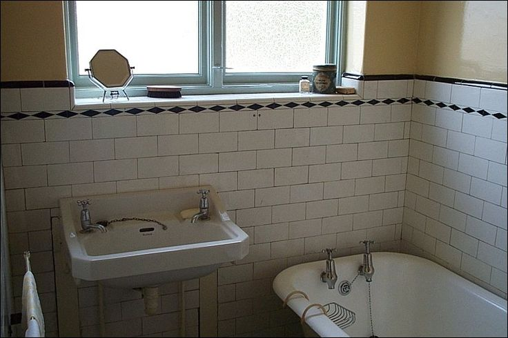 80 best 1930s bathrooms images on pinterest for Bathroom ideas 1930s semi