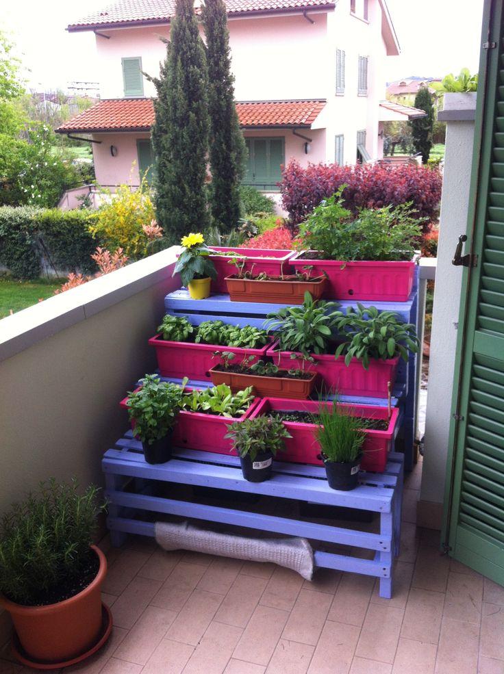 Oltre 25 fantastiche idee su giardino sul balcone su for Idee giardino grande