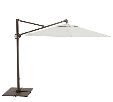 aluminum cantilever umbrella with base premium sunbrellar natural