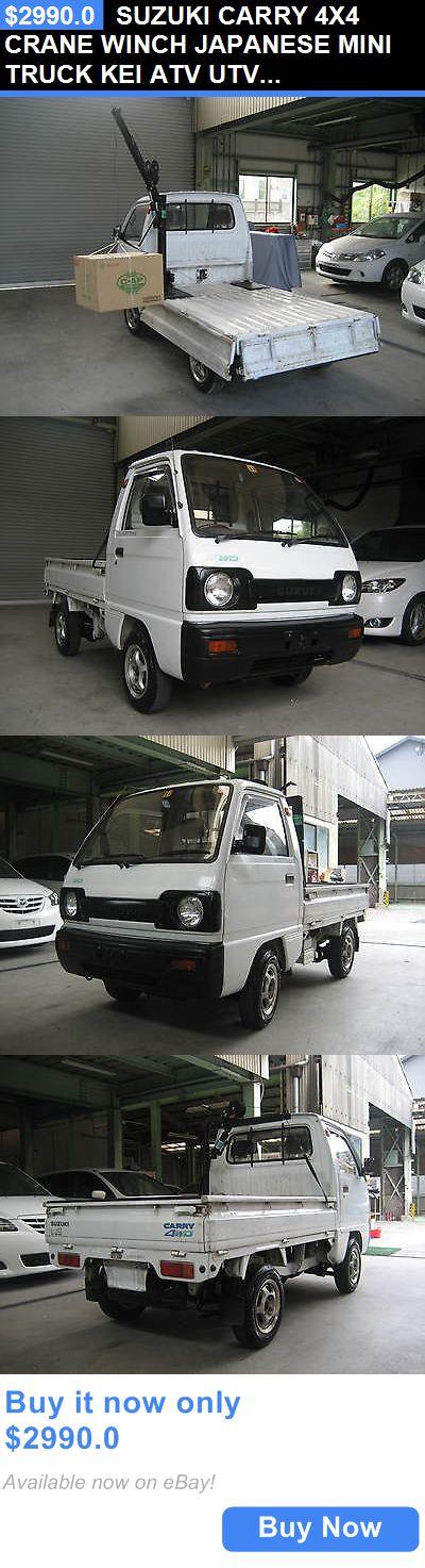 Power Sports ATVs UTVs: Suzuki Carry 4X4 Crane Winch Japanese Mini Truck Kei Atv Utv Off Road Farm Ranch BUY IT NOW ONLY: $2990.0