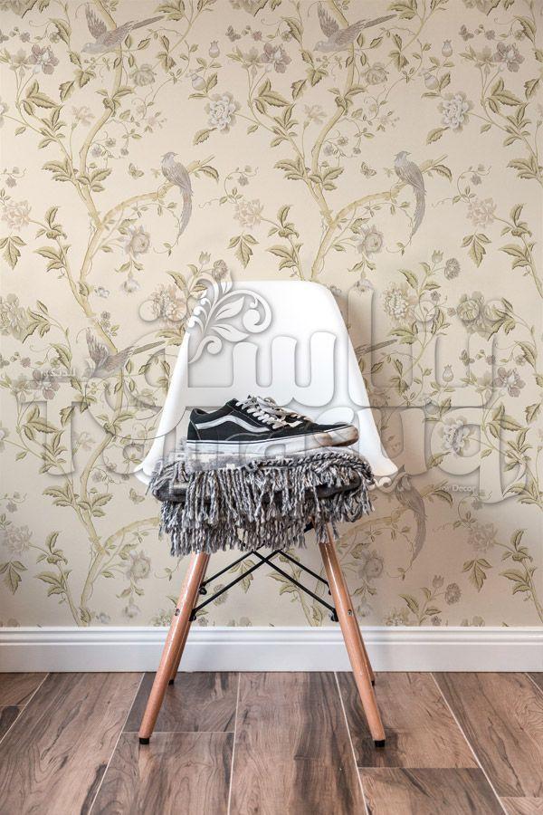 ورق حائط راقي عصافير Tanasuq Wall Murals Decor Chair