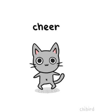 Cheer-up cat~ I hope you guys are doing well! Thank you for the support this week. <3 Trying to make it through a wall of stress, will respond to messages, etc. probably next week.