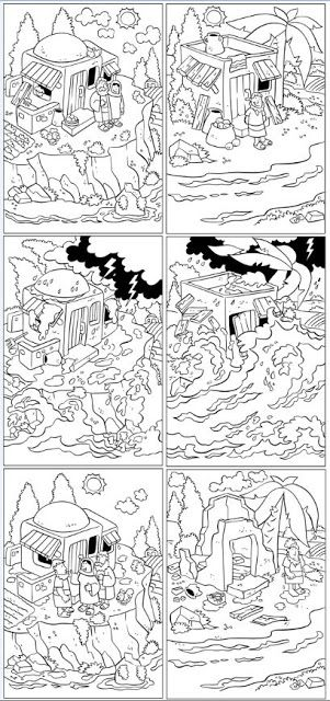 44 best images about house upon the rock on pinterest for Wise man foolish man coloring page