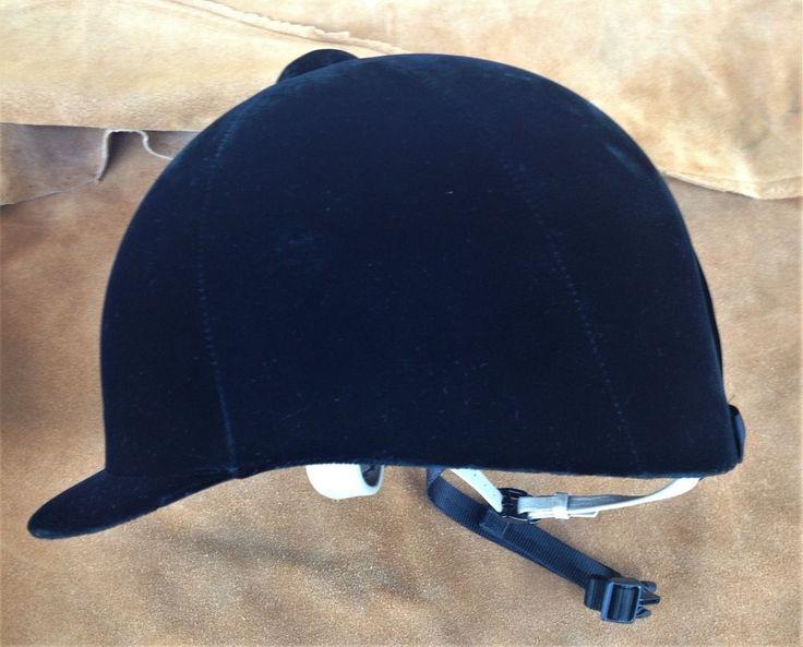 GRAND PRIX CLASSIC SZ 7 BLACK VELVET EQUESTRIAN TROXEL ENGLISH HORSE RIDING HAT #Troxel #GrandPrixClassic