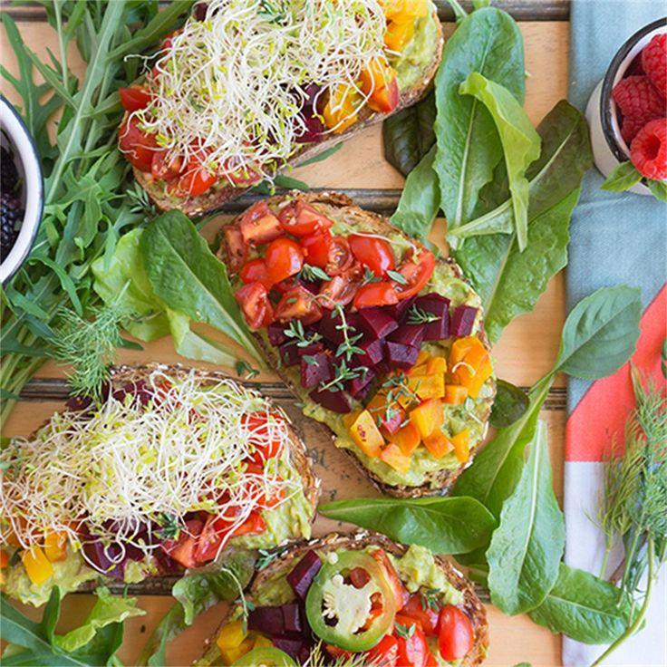 Beet & Avocado Open Faced Sandwiches by @oatsesame - #KeepOnCooking  #Sandwich #Vegan #Vegetable #Vegetables #Vegetarian