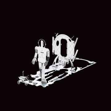 Mikro Man Mars  by Mikro World    Mikro World is a series of fold-up metal sculptures created by British artist Sam Buxton that will add a touch of instant art to your desk or home.