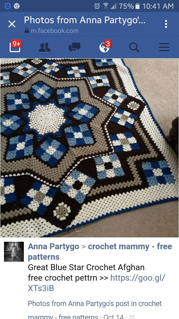 1691 best crochet images on pinterest crochet afghans knit it seems that is one of the most popular and lovely project in the world is that correct impression this blue star afghan bankloansurffo Images