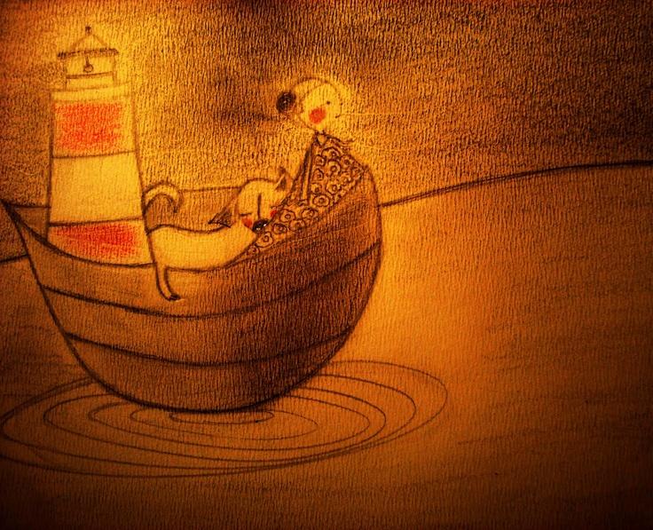a lovely sketch by Argentine illustrator Mercedes De La Jara
