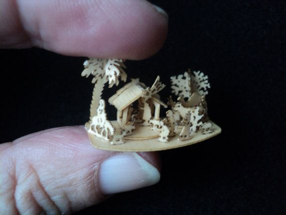 Tiny Christmas stable scene - new in 2013