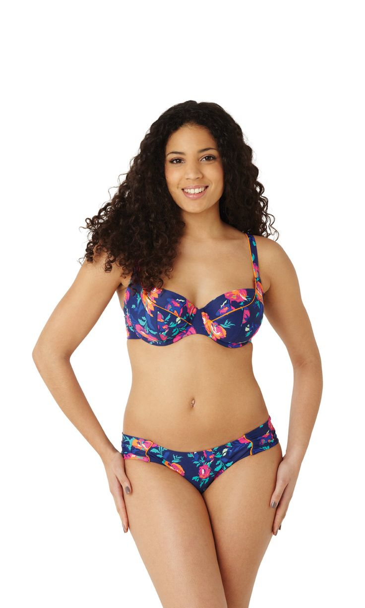 Floral Bikini Top By Panache Ps50