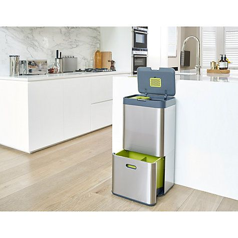 Totem by Joseph Joseph is an innovative system that combines all your waste and recycling requirements in one neat unit. Including a food caddy, general waste compartment and a multi-purpose drawer alongside a carbon filter which helps to eliminate odours.