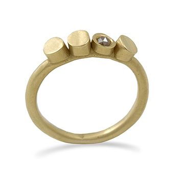 10k and rose cut diamond ring from the new Pebble collection by Claire Webb
