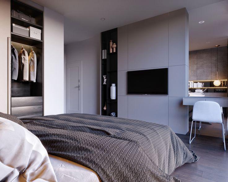 больше публика встроенная спальня фото модерн красные
