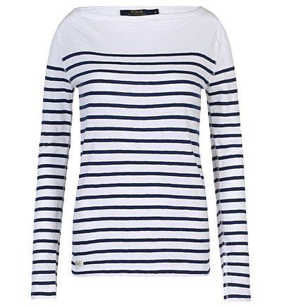Tee-shirt Genevieve Polo Ralph Lauren en blanc prix T-shirt femme Galeries Lafayette 125.00 € TTC