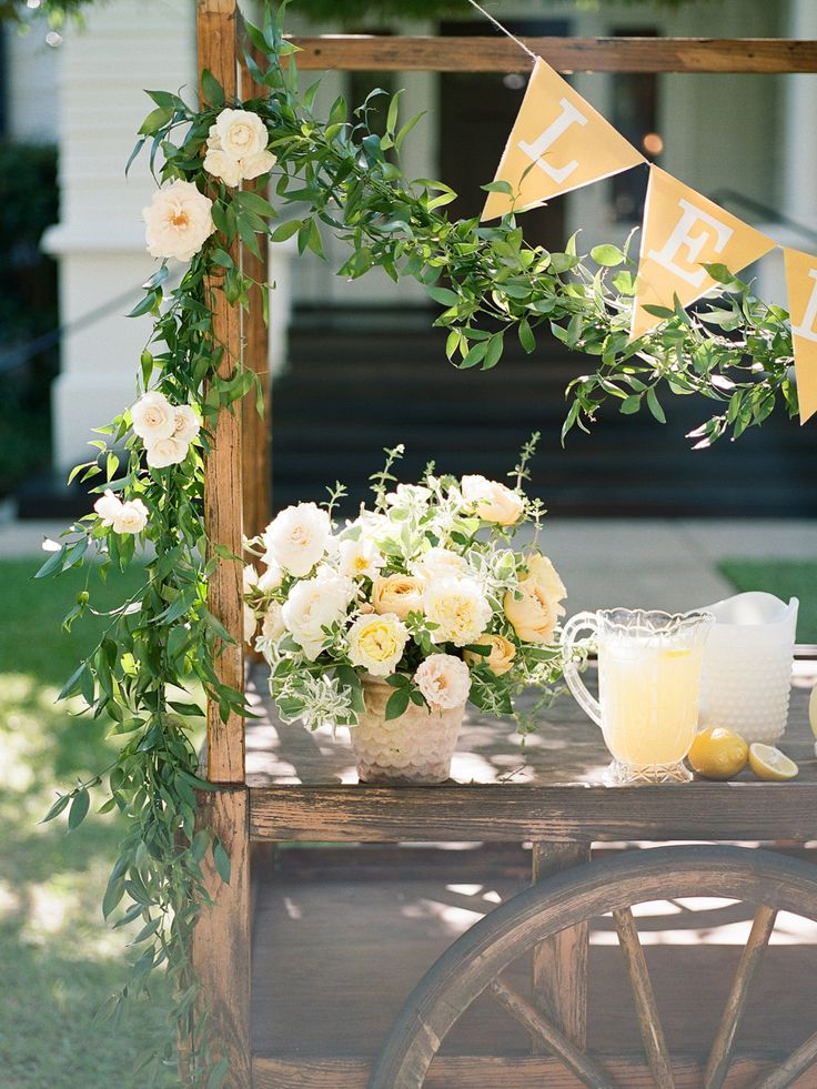 Lemonade Stand, Wedding Decor | Lovegood Wedding & Event Rentals