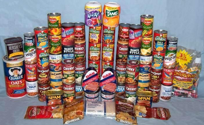 A 30-Day Emergency Food Supply For One Adult  (3,000 Calories per Day).  You need calories in an emergency.  It's not a time to diet!!  Think about it when you make your kits.