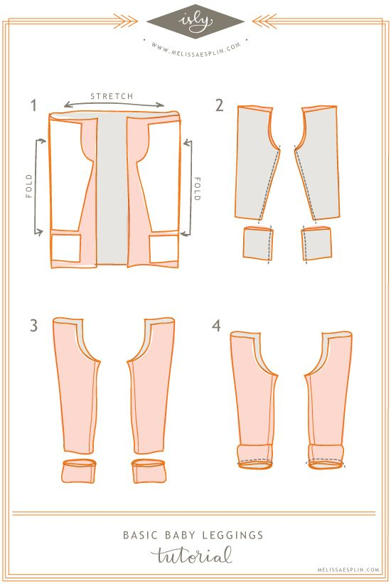 Cut out Patterns - for making Leggins for Baby :) soo cute