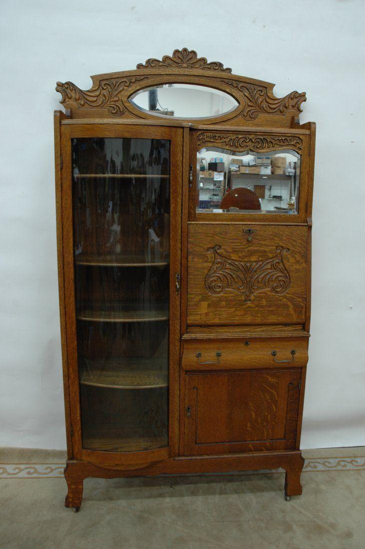 Victorian tiger oak side by side secretary - 34 Best Antique Oak Furniture Images On Pinterest Antique